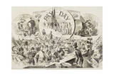 "Pay Day in the Army of the Potomac  from ""Harper's Weekly""  February 28  1863"