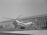 The Flying Banana Taking off from the Pentagon