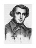 19Th Century Engraving of Alexis De Tocqueville