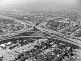 Aerial View of Highway and Suburbs