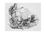 Freya Riding Chariot Driven by Cats