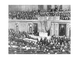 Woodrow Wilson Addressing Congress