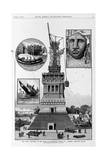 New York - Progress of the Work on Bartholdi's Statue of Liberty  Bedloe's Island from a Sketch By