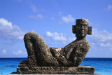 Sculpture by the Ocean in Cancun  Mexico