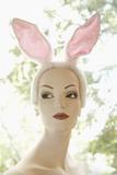 Mannequin Wearing Bunny Ears