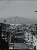 View of Alcatraz Island from Russian Hill