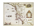 Map of Nova Belgica or New Belgium and of Anglia Nova or New England  1663