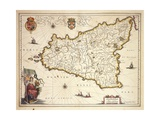 Map of Sicily Region  by Joan Blaeu