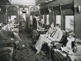 Passengers in a Pullman Car on 'The Empire Builder' of the Great Northern Railway  Late 1930S