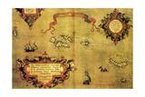 Map of Azores by Abraham Ortelius  1528-1598  from Theatrum Orbis Terrarum  1570