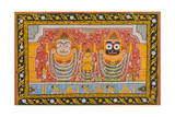 Patachitra Depicting Jagannath  Orissa  Mid 20th Century