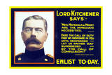 World War One Recruiting Poster of Lord Kitchener  C1915