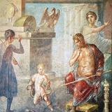 Hercules Strangling Snakes  Fresco in Oecus  House of Vettii  Pompeii