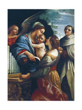 Italy  Rome  the Virgin and Child with Saint Cecilia and Saint Anthony
