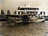 A Seaplane at the Pan Am Seaplane Base  Dinner Key  Florida  1930s