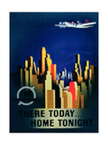 There Today  Home Tonight'  Advertisement for Twa  the Transcontinental Airlines
