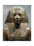 Egypt  Medinet Habu  Statue of Pharaoh Tutankhamun
