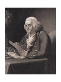 Engraving by Thomas B Welch after Benjamin Franklin by David Martin