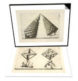 Illustration of Sculpture  Geometric Designs Illustrating Euclidian Principles Of Geometry Set