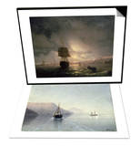 Harbour at Odessa on the Black Sea  1852 & Calm  1885 Set