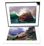 Seal Rock  California & Storm in the Rockies  Mt Rosalie Set