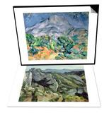 Mont Saint Victoire  1900 & Rocks at L'Estaque  1879-82 Set