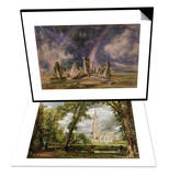 Stonehenge  1835 & View of Salisbury Cathedral from the Bishop's Grounds  circa 1822 Set