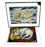 Dog Lying in the Snow  1910/1911 & The White Cat  1912 Set