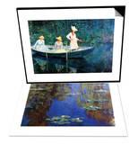 Women Fishing & Monet - Water Lilies Set