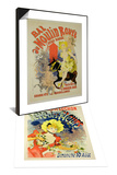 "Reproduction of Poster for ""Bal Au Moulin Rouge "" 1889 & Poster for Flower Festival  1890 Set"