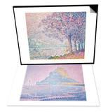 The Seine at St Cloud  1903 & Mont Saint-Michel  Fog and Sun  1897 Set