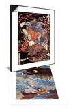 Oki No Jiro Hiroari Killing a Monstrous Tengu & Samurai on the Small Boat Set