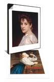 Portrait of Gabrielle Drienza  1890 & L'Oiseau Cheri  1867 Set