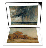 Rainstorm over Sea  C1824-28 & Autumnal Landscape at East Bergholt  c1805-08 Set