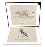 Monkeys Riding Zebra & Wasp Playing Flute Set