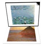 Water Lilies  Nympheas & Haystacks  Pink and Blue Impressions  1891 Set