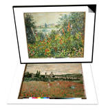 Flowering Meadow  Vetheuil  1880 & Mohnfeld Bei Vetheuil Ca1880 Set