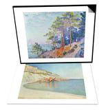 St Tropez  the Custom's Path  1905 & Cote D'Azur  1889 Set