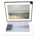 Golfe d'Antibes  1888 & The Seine Near Vernon  as Seen in the Morning  circa 1894 Set