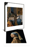 A Young Lady Seated at a Virginal  circa 1670 & Girl with a Pearl Earring  circa 1665-6 Set