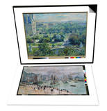 View of the Tuileries Gardens  Paris  1876 & Port De Mer (Le Havre)  1874 Set
