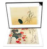 Blackbird  Edo Period & Poppies Set