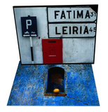 Street Signs and Letterbox  Portugal & Weathered Blue Façade  Santa Maria Tonantzintla  Mexico Set