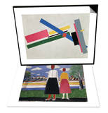 Suprematist Construction & Two Figures in a Landscape  C1931-32 Set