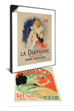 Reproduction of Poster Advertising La Diaphane & Reproduction of Poster Advertising Pippermint Set