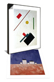 Suprematist Composition  1915 & Landscape with Five Houses  c1932 Set
