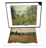 Flowering Meadow  Vetheuil  1880 & Mohnfeld Bei Vetheuil Ca1880 Set
