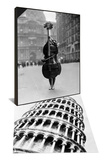 Walking Violin in Philadelphia Mummers' Parade  1917 & Leaning Tower of Pisa from Below Set