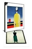 Torso in a Yellow Shirt  1928-32 & Suprematist Female Figure  1928-32 Set