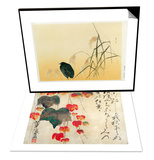 Blackbird  Edo Period & Poppies Set